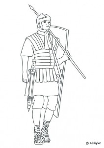 coloring page Roman soldier (1)