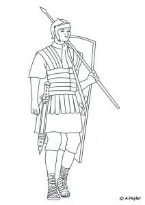 Dibujo para colorear soldado romano (1)
