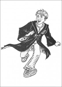 coloring page Ron Weasley (2)