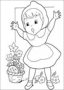 målarbok Little Red Riding Hood (1)