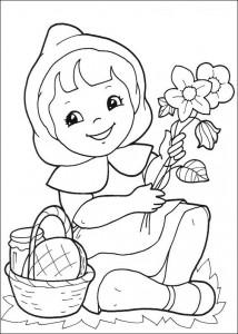 målarbok Little Red Riding Hood (2)