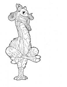 kleurplaat rooster pose