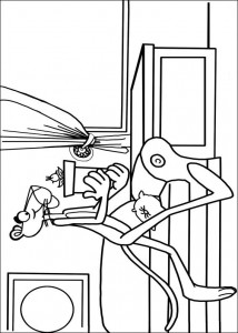 coloring page Pink panther (1)