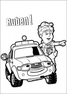 kleurplaat Ruben