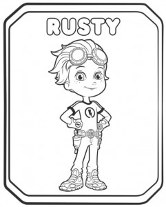 coloring page rusty rivet