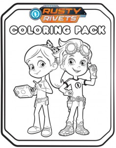 coloring page rusty rivets nick jr