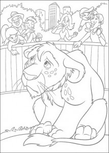 coloring page Ryan at the zoo
