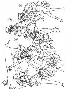 målarbok Sailor Moon (4)