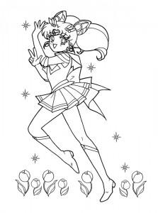 målarbok Sailor Moon