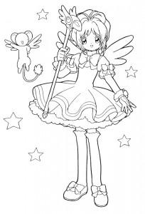 pagina da colorare Sakura (10)