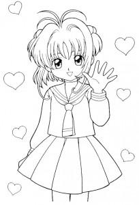 coloring page Sakura (12)