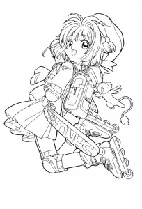 coloring page Sakura (16)