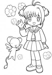 pagina da colorare Sakura (2)