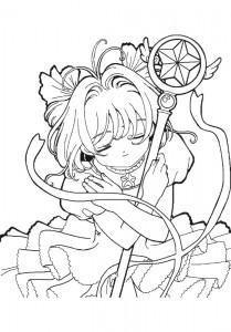 pagina da colorare Sakura (3)