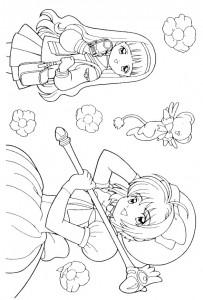 pagina da colorare Sakura (4)