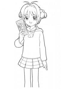 pagina da colorare Sakura (5)
