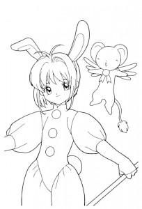 pagina da colorare Sakura (6)