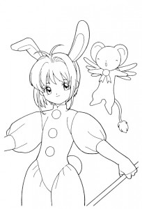 coloring page Sakura (6)