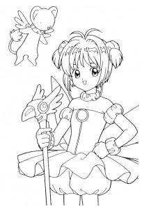 pagina da colorare Sakura (9)