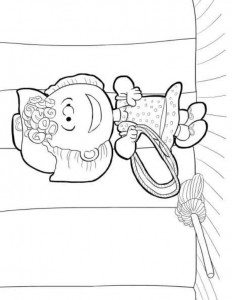 coloring page sally brown