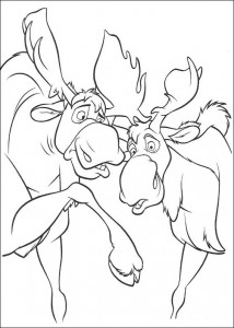 coloring page Sam and Moes