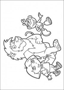 coloring page Together with Leon