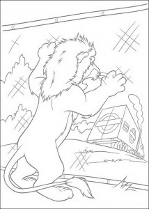 Samson coloring page remains behind