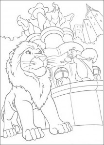 coloring page Samson and Benny in the zoo
