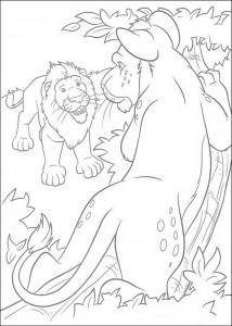 coloring page Samson and Ryan