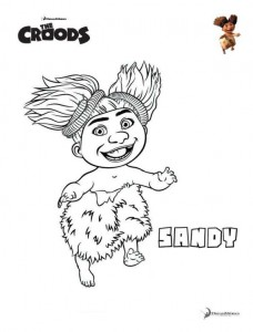 coloring page Sandy