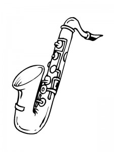 coloring page Saxophone