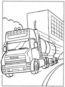 coloring page Scania