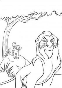 målarbok Ärr och den lilla Simba