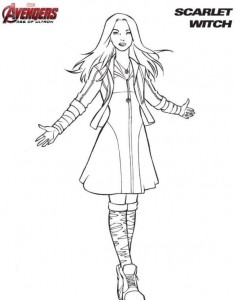 coloring page Scarlet Witch
