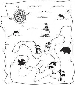 Disegno da colorare Treasure Map (2)