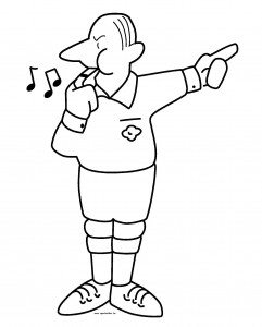 coloring page Referee (2)