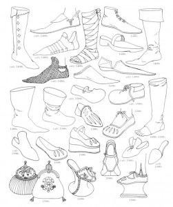 coloring page Shoes from 1500