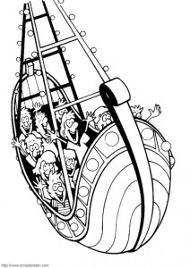 coloring page Swinging boat
