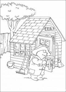 coloring page Barn clean up