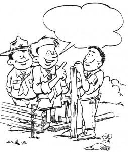 kleurplaat Scouting (10)