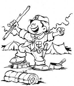 kleurplaat Scouting (11)