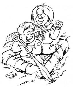 kleurplaat Scouting (2)