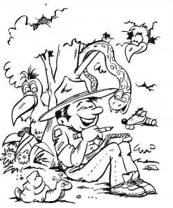 Disegno da colorare Scouting (3)