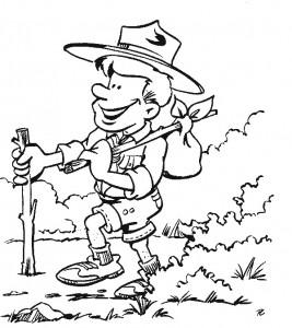 kleurplaat Scouting (5)
