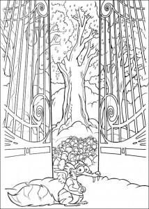 målarbok Scrat i ekollonparadis
