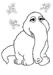 coloring page Sesame Street elephant