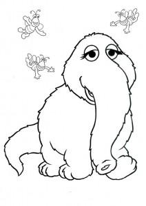 kleurplaat Sesamstraat olifantje