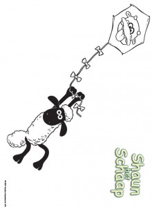 coloring page Shaun the Sheep (1)