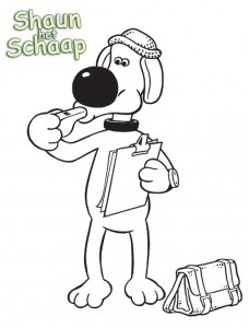 coloring page Shaun the Sheep (2)