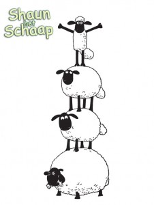 pagina da colorare Shaun the Sheep